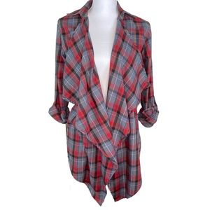 Legendary Whitetails Red Black Plaid Tunic Blouse